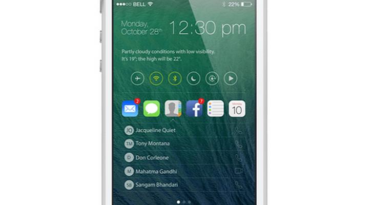 iOS 8 como sería