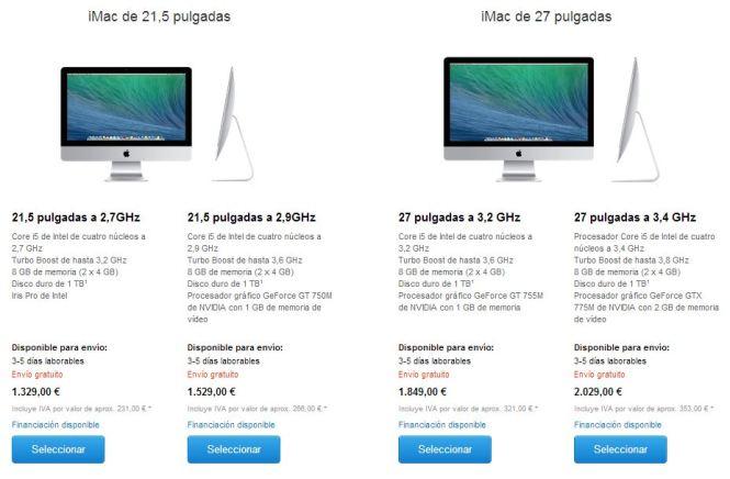 iMac nuevos