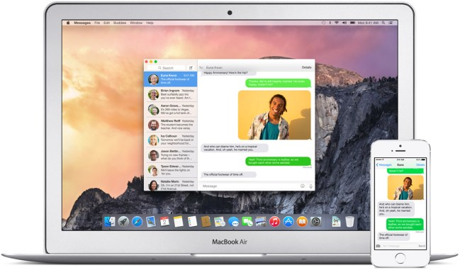Messages Yosemite Apple