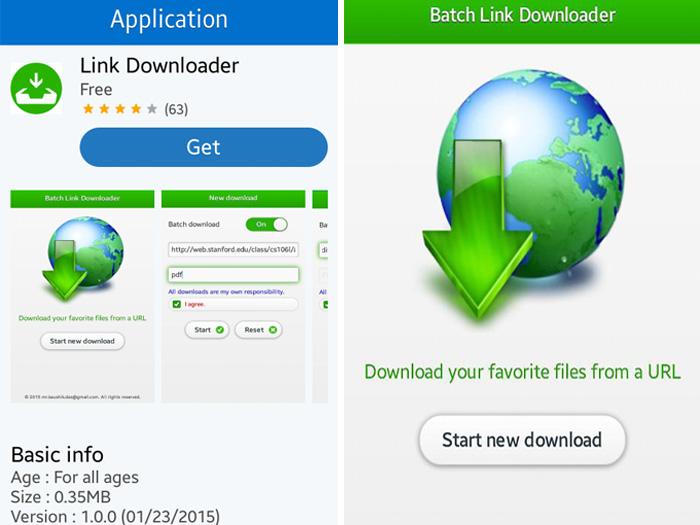 application link downloader app