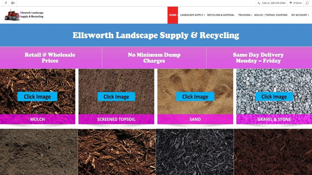 Click Image to see website. Responsive Design Website Landscape Supply  Company ... - Responsive Design Website - Landscape Supply Company - Digital