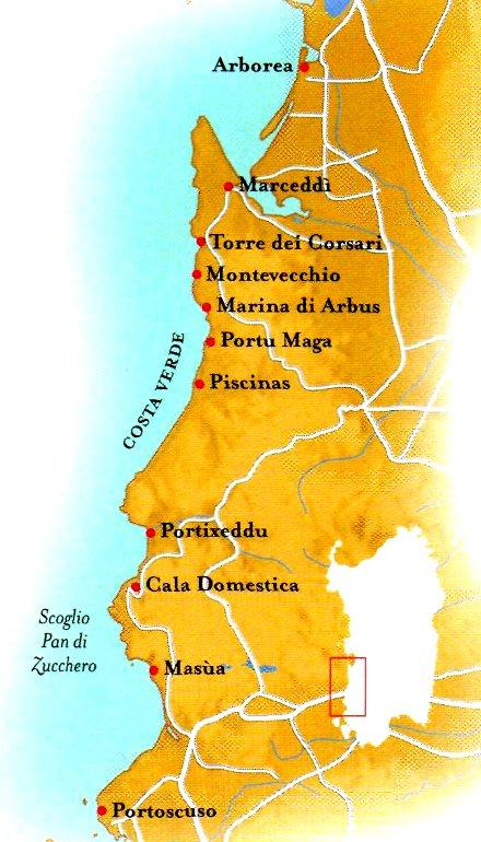 SardegnaCosta Verde viaggio da Portoscuso ad Arborea