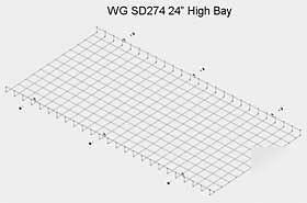 Graninger 5YA15 highbay fluorescent light fixture guard