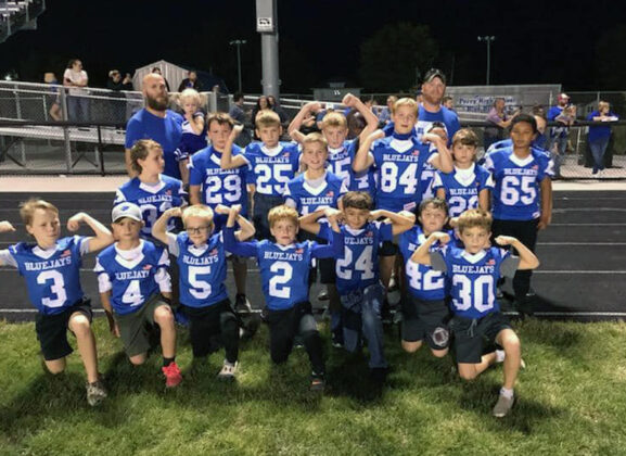 Perry Youth Football honored at Homecoming game