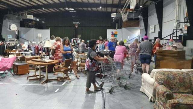 Shoppers browse two years' goods at Regina Guild rummage sale 1