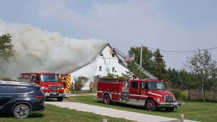 Boone County livestock barn burns Monday 1