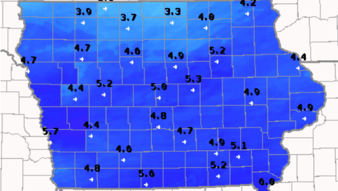 Iowa Snowfall Totals From Both Days