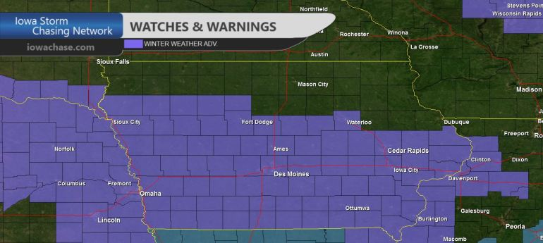 Iowa Winter Weather Headlines