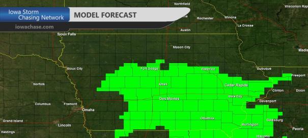 Iowa Model Rain Forecast