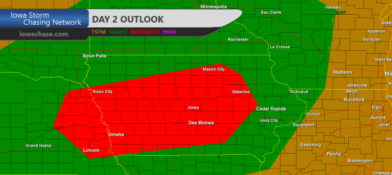 Iowa Convective Moderate Outlook