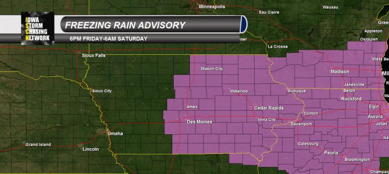 Iowa Freezing Rain Advisory