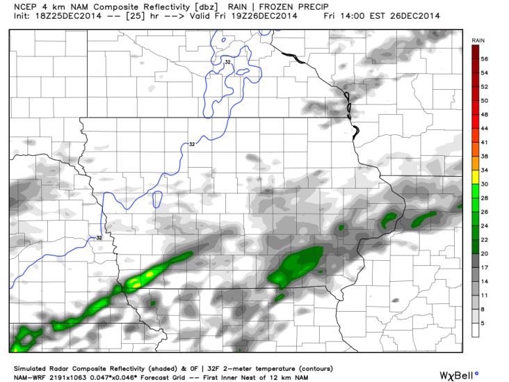 WRF Iowa Simulated Forecast
