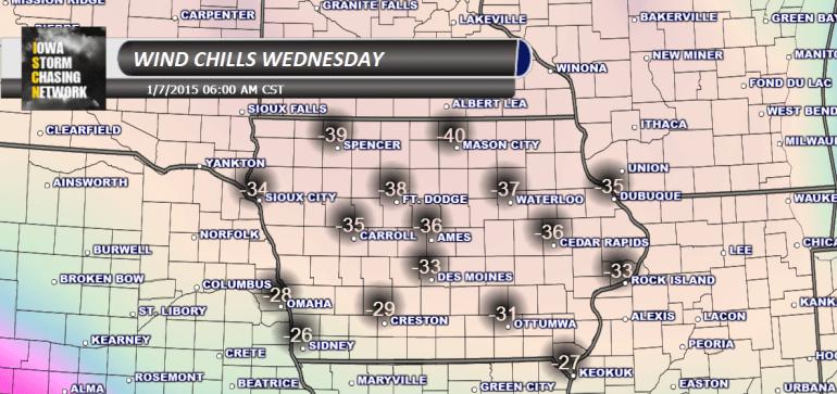 Wind Chills Wednesday