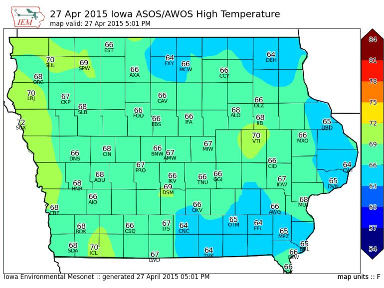 Iowa Highs April