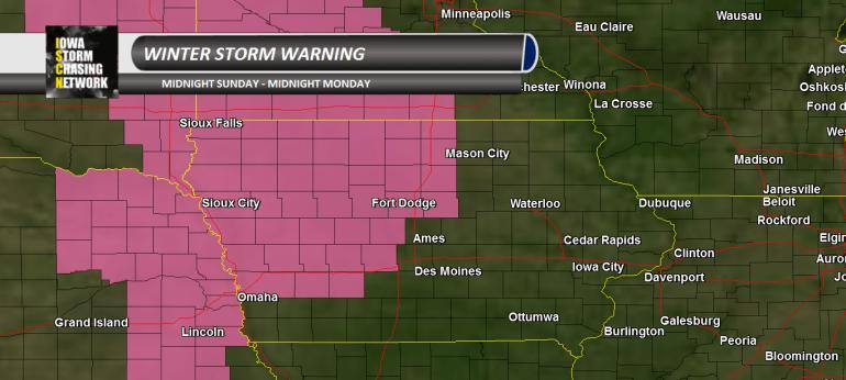 Iowa Winter Storm Warning