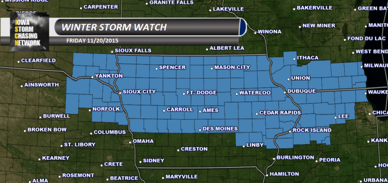 Iowa Winter Storm Watch