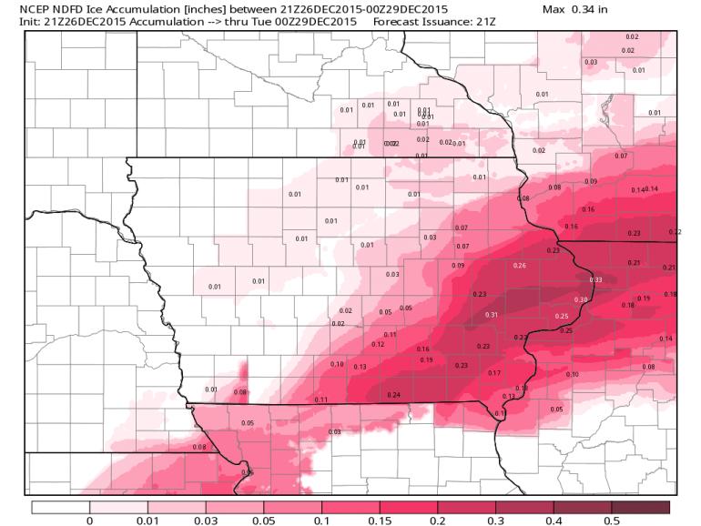 Iowa Ice Accumulation Forecast