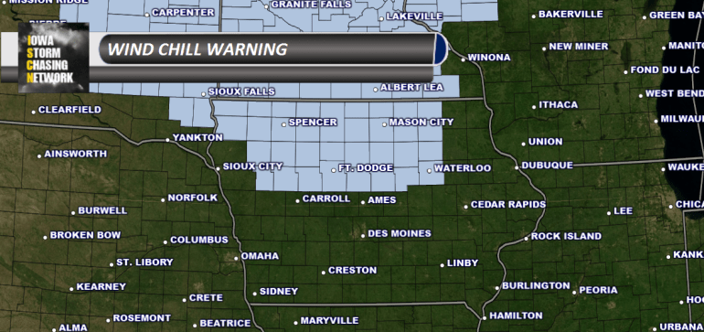 Iowa Wind Chill Warning