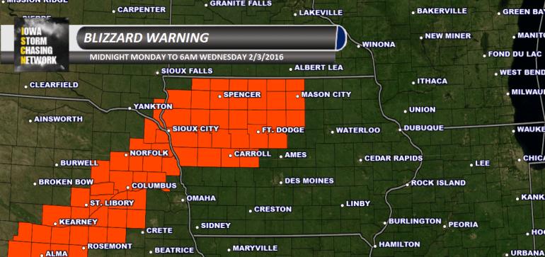 Iowa Blizzard Warning