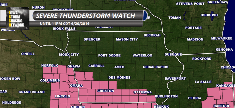 Iowa Severe Thunderstorm Watch