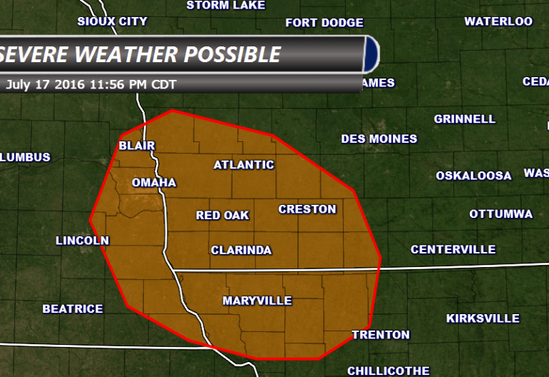Iowa Severe Weather Potential