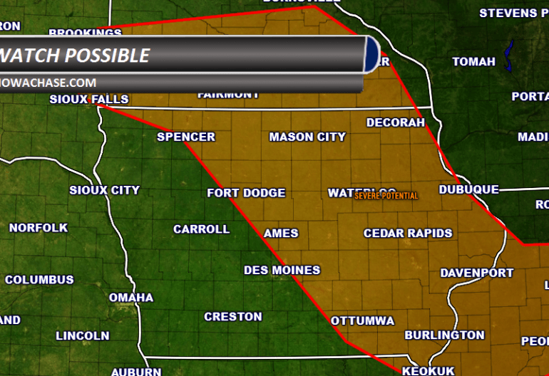 Severe Watch Possible in Iowa
