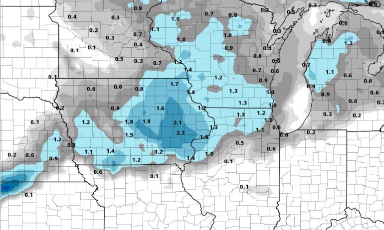 Forecast Snowfall for Iowa