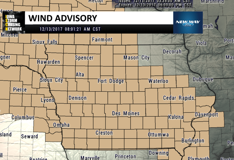 Iowa Wind Advisory