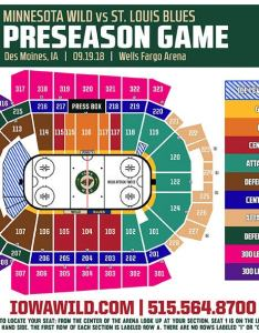 Seating charts nhl preseason game wild vs blues also iowa events center rh iowaeventscenter