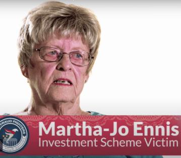 Martha-Jo Ennis, Investment Scheme Victim