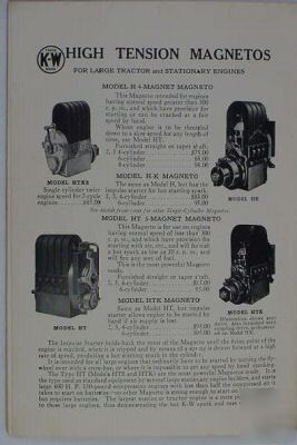 Original kw magneto service and parts manual
