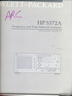Hp agilent 5372A operating manual