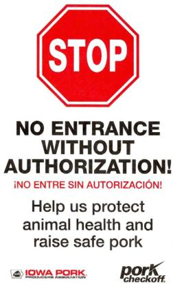 Biosecurity Sign