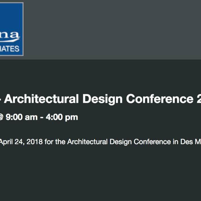 Architectural Design Conference April 2018