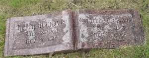 Henry and Gertrude Chavis tombstone (photo taken by Nancy Bowers)