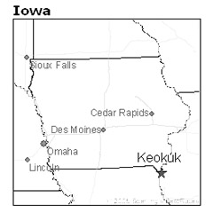 Keokuk, Iowa map