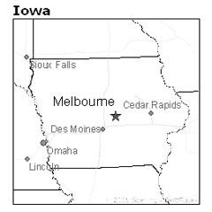 Van Cleve was about 10 miles SE of Melbourne, Iowa