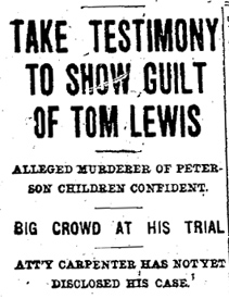After Church: Murders of Lena and Tommy Peterson 1902
