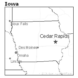 location of Cedar Rapids, Iowa