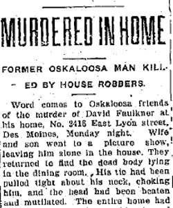 Strangled With His Own Necktie: Murder of David Faulkner