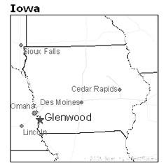 location of Glenwood, Iowa