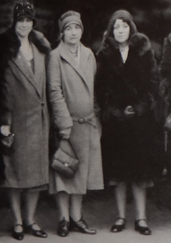 The widowed Grace Mattern -- on the right -- became a telephone operator for the Des Moines PD (from Behind the Badge)