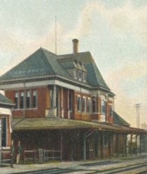 Illinois Central Railroad Station, where Bill Kniffin hauled baggage.