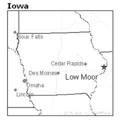 location of Low Moore, Iowa