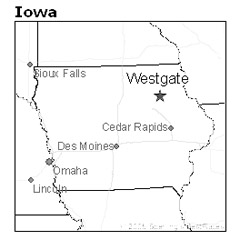 location of Westgate, Iowa