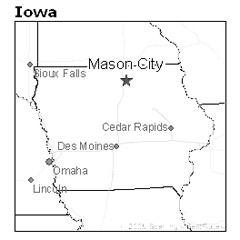 location of Mason City, Iowa