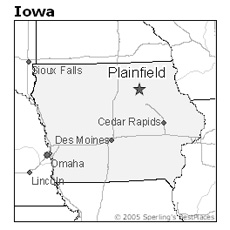 location of Plainfield, Iowa