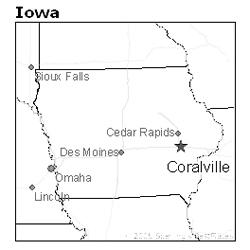 location of Coralville, Iowa