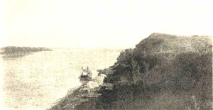 Historical photo of the Missouri River at Nebraska City