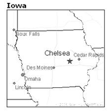 location of Chelsea, Iowa